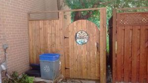 custom fence door installation