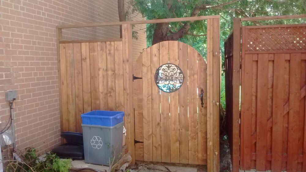custom fence door installation