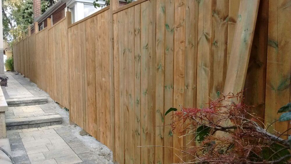fence installed on uneven ground