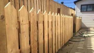 picket fence installed